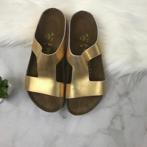 44d5e8a0b76 Birkenstock Shoes - Birkenstock Papillo Pre Owned Charlize Gold Sz. 36